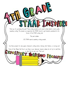 STAAR Inspired Expository Writing Prompts