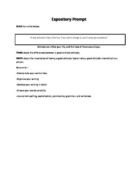 STAAR Inspired Narrative and Expository Writing Prompt Bundle