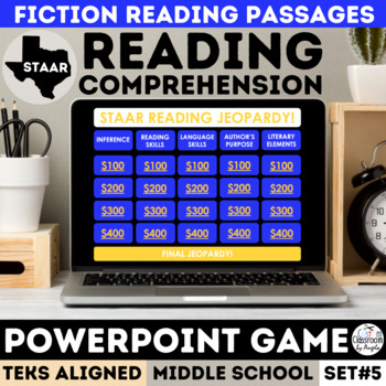 STAAR Reading Review Jeopardy PowerPoint Game