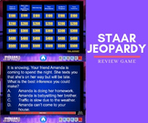 STAAR Jeopardy Reading Review Game (4th-5th Grade)