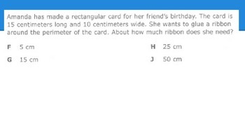 STAAR Like Area and Perimeter Questions
