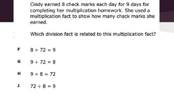 STAAR Like Division Review Problems