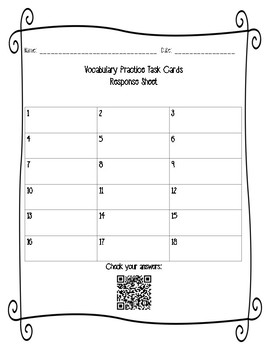 STAAR Literary Text Vocabulary Practice Task Cards