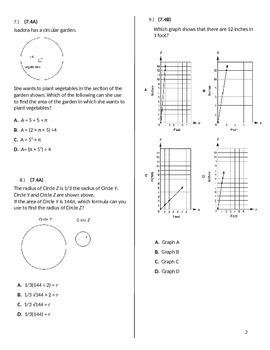 STAAR MATH 7 Category 2 Test