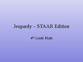 STAAR MATH REVIEW!!!