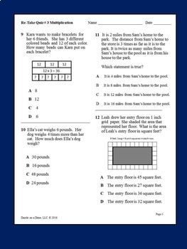 STAAR Math 3rd Grade (Math STAAR Practice Pack) by Dazzle ...
