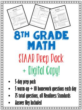 STAAR Math - 8th Grade Test Prep Packet