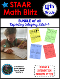 STAAR Math Blitz: 4th Grade BUNDLE of  Reporting Category