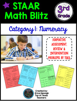 STAAR Math Blitz Reporting Category #1: Numeracy 3rd Grade TEKS