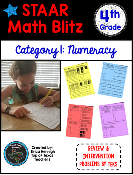 STAAR Math Blitz Reporting Category #1: Numeracy 4th Grade TEKS
