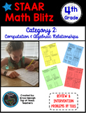 STAAR Math Blitz Reporting Category #2: Computations & Algebra 4th Grade TEKS