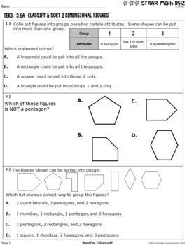 STAAR Math Blitz Reporting Category #3 Geometry & Measurement 3rd Grade TEKS