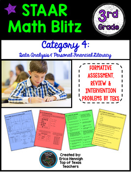 STAAR Math Blitz Reporting Category #4: Data & Financial Literacy 3rd Grade TEKS