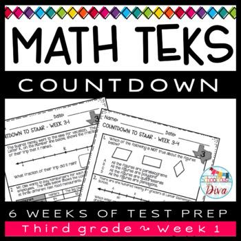3rd Grade Math TEKS Countdown - Week 1
