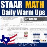 STAAR Math Daily Warm Ups Grade 3 Set #1
