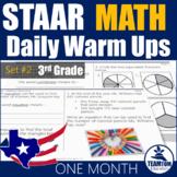 STAAR Math Daily Warm Ups Grade 3 Set #2