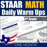 STAAR Math Daily Warm Ups Grade 4 Set #1