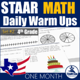 STAAR Math Daily Warm Ups Grade 4 Set #2