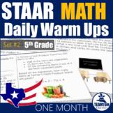 STAAR Math Daily Warm Ups Grade 5 Set #2