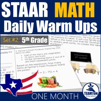 Staar practice grade 5 teaching resources teachers pay teachers staar math daily warm ups grade 5 set 2 fandeluxe Images