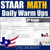 STAAR Math Daily Warm Ups Grade 6 Set #1
