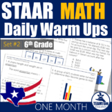 STAAR Math Daily Warm Ups Grade 6 Set #2