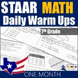 STAAR Math Daily Warm Ups Grade 7 Set #1