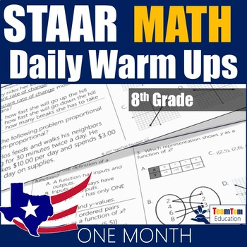 STAAR Math Daily Warm Ups Grade 8 Set #1