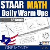 STAAR Math Daily Warm Ups Grade 8 Set #2