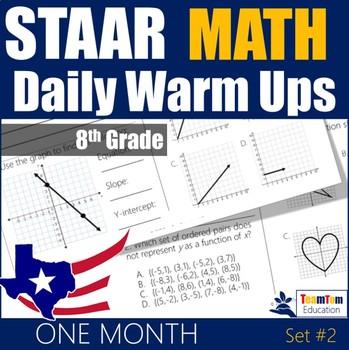 STAAR Math Daily Warm Ups Grade 8 Set #2