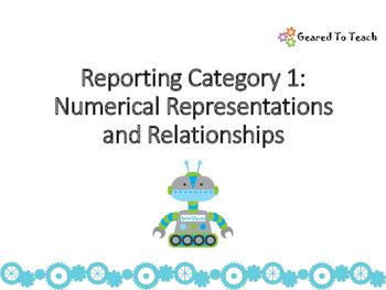 Representaciones y relaciones numericas Tarjetas Repaso Matematicas 4 Grado