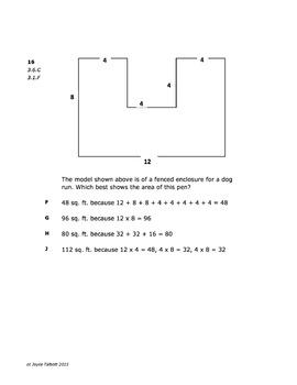 STAAR Math Grade 3 Practice A TEST