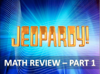 STAAR Math Part 1 - Jeopardy Review (STAAR Stemmed)