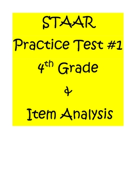 Staar math practice test 4th grade by d math teachers pay teachers staar math practice test 4th grade malvernweather Images