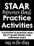 STAAR Math Reference Chart Practice Activities