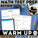 STAAR Math Review   6th Grade   Daily Warm-up   PDF & Digital