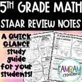 STAAR Math Review - 5th Grade