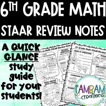 STAAR Math Review - 6th Grade