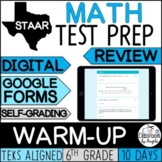 STAAR Math Review   6th Grade   Daily Warm-up for Google Forms™