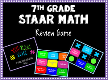 STAAR Math Review Game - 7th Grade