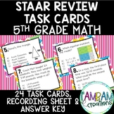 STAAR Math Review Task Cards - 5th Grade
