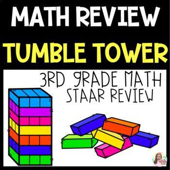 STAAR Math Review Tumble Tower Blocks 3rd Grade