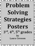 STAAR Math Review:Problem Solving Strategies Posters