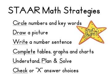 STAAR Math Strategies 3rd Grade