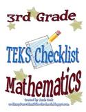 STAAR Math TEKS Checklist (3rd Grade) - OLD TEKS