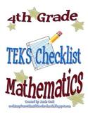 STAAR Math TEKS Checklist (4th Grade) - OLD TEKS