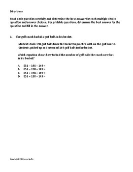 STAAR Math Test Practice for 2018