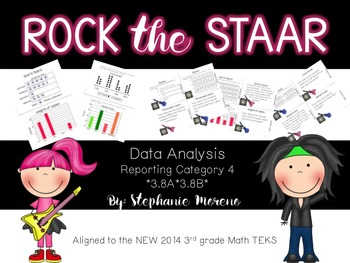 STAAR Math Test Prep Reporting Category 4 3rd grade Task Cards