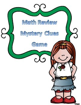 Math Game- End of Year Math Test Review Mystery Clues Game 3rd