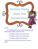 Math Game Test Review: Survivor Theme